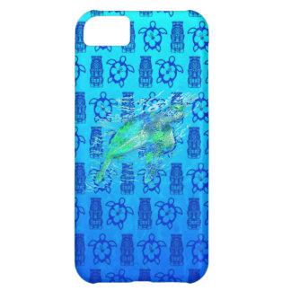 Havssköldpadda och blått Tiki iPhone 5C Fodral