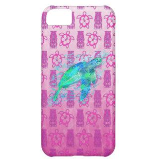 Havssköldpadda och rosa Honu iPhone 5C Fodral