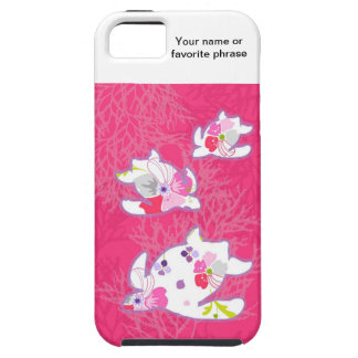 Havssköldpadda på rosa bakgrund iPhone 5 skydd
