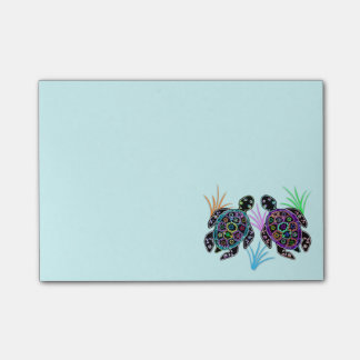 Havssköldpaddor Postar-it® noterar Post-it Lappar