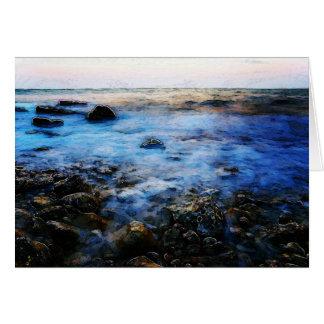 HavsTide i dimma Hälsningskort