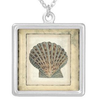 Havsvarelser vid kusten silverpläterat halsband