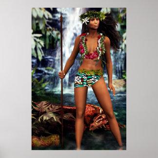 Hawaiansk drakegudinna poster