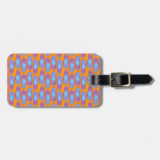 Hawaiansk flinflip flops i blått & orange bagagebricka