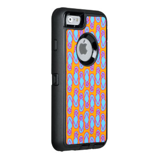 Hawaiansk flinflip flops i blått & orange OtterBox defender iPhone skal