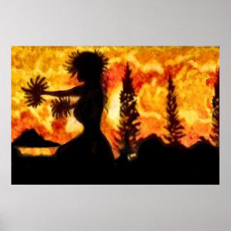 Hawaiansk Hula dansare Poster