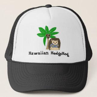 Hawaiansk igelkott och palmträd keps