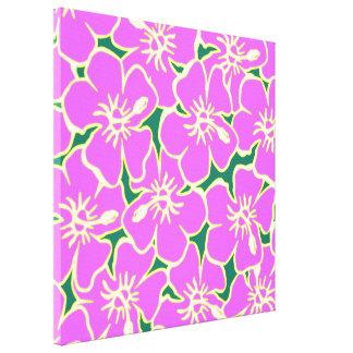 Hawaiansk Luau för rosa blommor för hibiskus Canvastryck