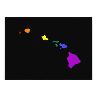 Hawaiansk regnbåge 12,7 x 17,8 cm inbjudningskort