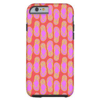 Hawaiansk stil för flinflip flops tough iPhone 6 case