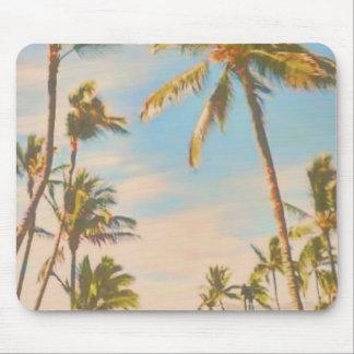 Hawaiansk strand för PixDezines vintage Musmatta