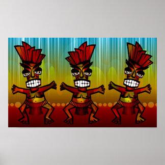 hawaiansk Tiki manar för 1312743176_Vector_Clipart Poster