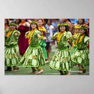 Hawaianska Hula dansare Poster