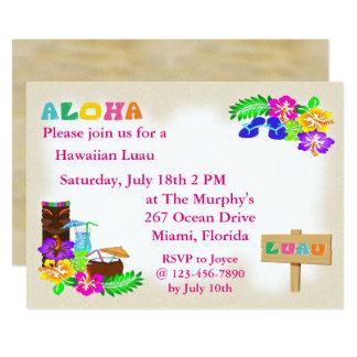 Hawaianska Luau inbjudningar