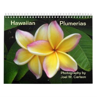 Hawaianska Plumerias Kalender