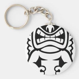 Hawaianska Tiki maskerar guden Rund Nyckelring