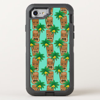 Hawaianskt Tiki repetitionmönster OtterBox Defender iPhone 7 Skal