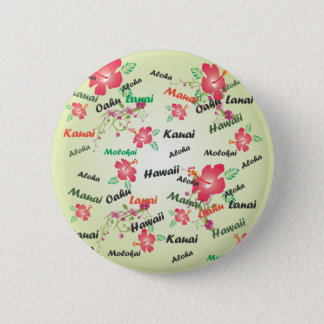 Hawaianskt tryck standard knapp rund 5.7 cm
