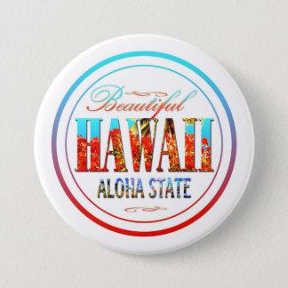 Hawaii Aloha påstår Mellanstor Knapp Rund 7.6 Cm