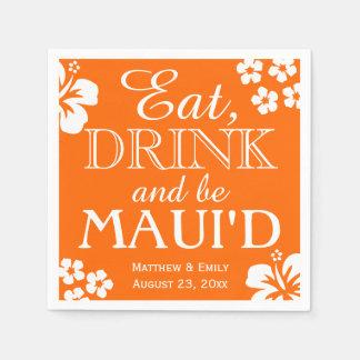 Hawaii äter, drinken och är servetter för Maui 'D-