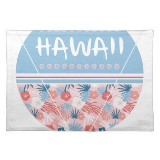 Hawaii blommatryck bordstablett