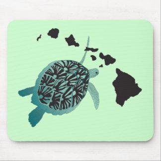 Hawaii grön havssköldpadda och Hawaii öar Musmatta