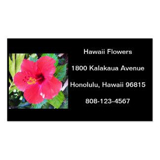 Hawaii hibiskusblomma visitkort mall