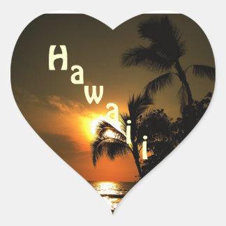 Hawaii hjärta hjärtformat klistermärke