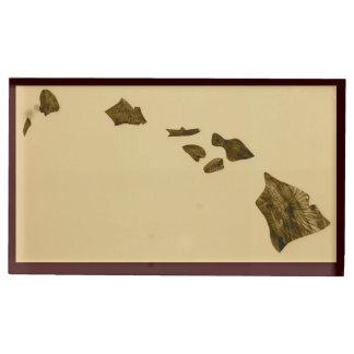 Hawaii karta av öar bordskorthållare