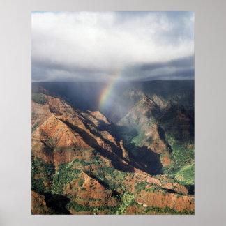 Hawaii Kauai, Waimea kanjondelstatspark Poster
