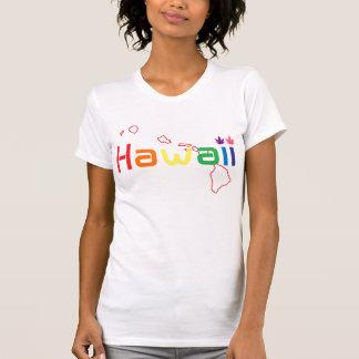 Hawaii ogräslöv (regnbågefärg) tee shirts