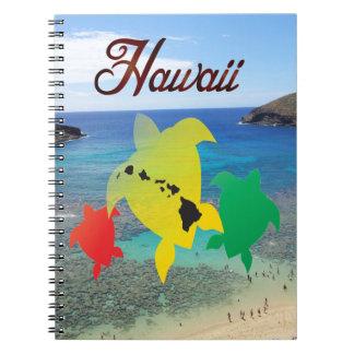 Hawaii Reggaesköldpaddor Anteckningsbok Med Spiral