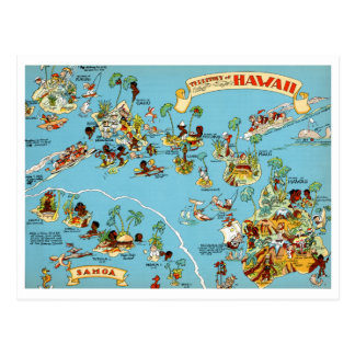 Hawaii rolig vintagekarta vykort