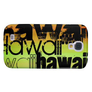 Hawaii; Vibrerande grönt, orange & gult Galaxy S4 Fodral