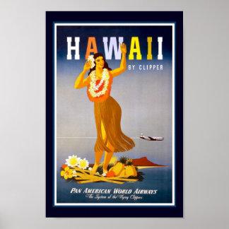 Hawaii vintage resor poster