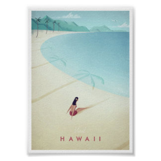 Hawaii vintage resoraffisch poster