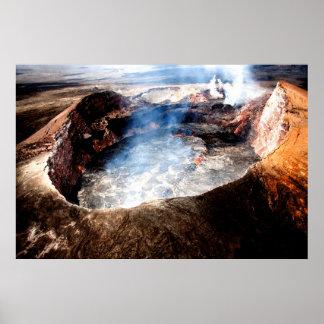 Hawaii vulkannationalpark poster