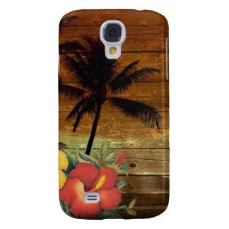 Hawaiibo för hibiskus för palmträdtotem tropisk galaxy s4 fodral