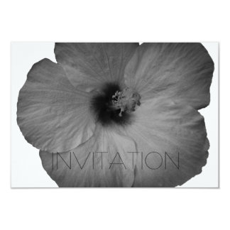 Hawaiibodrömmar i svartvitt 8,9 x 12,7 cm inbjudningskort
