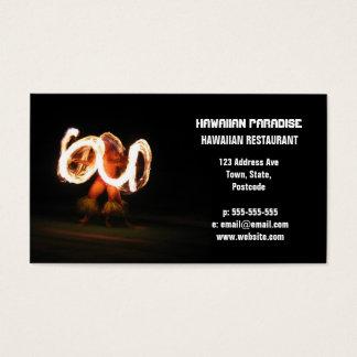 Hawaiibon avfyrar dans visitkort