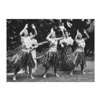 HawaiiHula dansare PhotographHawaii Canvastryck