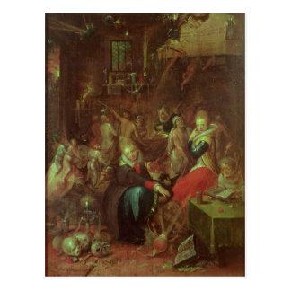 Häxa sabbat, 1606 vykort