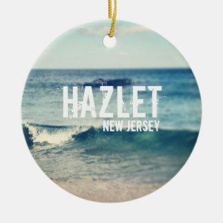 Hazlet- 2013 - Återställning på den Jersey kusten Julgransprydnad Keramik
