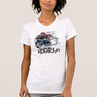 HDBitchin logotypkvinna Racerback T-tröja T Shirts