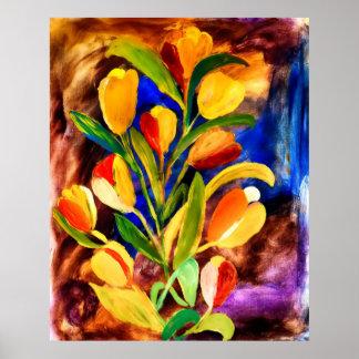 HDR-blommakonst i akryl Poster