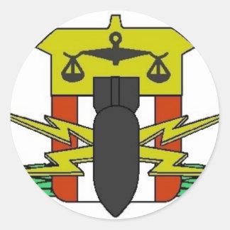 Hdt-emblem Runt Klistermärke