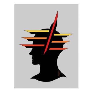 Head abstrakt vykort