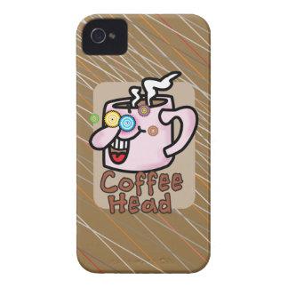 Head Fodral-Kompis knappt There™ för kaffe iPhone 4 Case-Mate Fodral