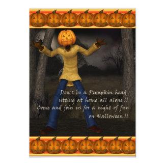 Head Halloween för pumpa inbjudan