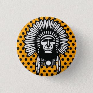 Head indier mini knapp rund 3.2 cm